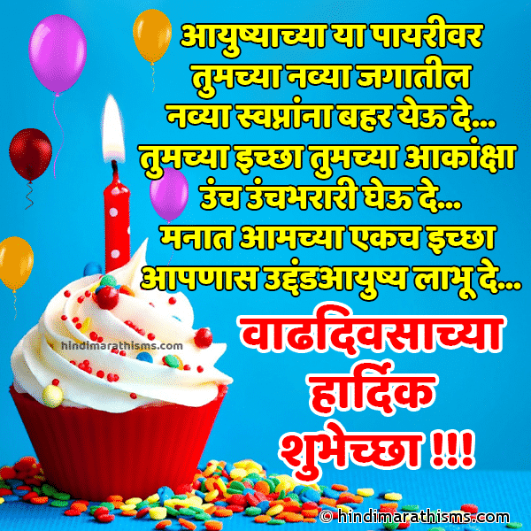 Birthday Wishes Marathi Font