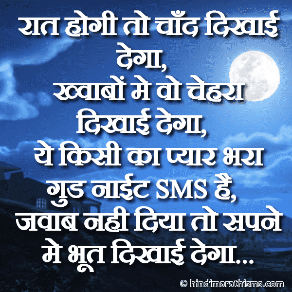 Funny Good Night Status Hindi