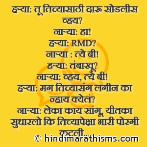 Harya: Tu Tichyasathi Daru Sodlis Vhay Na?