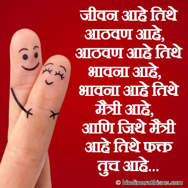 Jeevan Aahe Tithe Aathvan Aahe